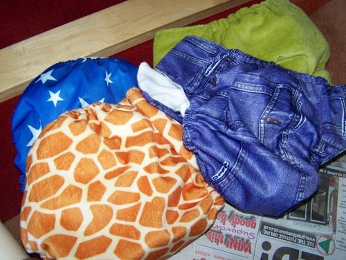 reusable nappies in a variety of patterns