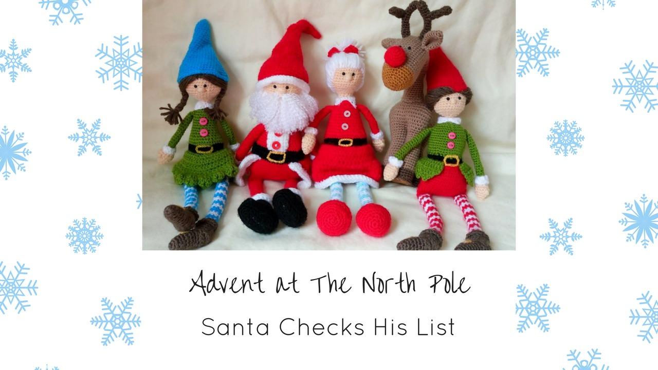 Advent at The North Pole Thumbnails Dec 18th - Santa Checks his List Twice